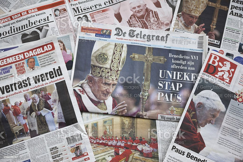 Pope Benedict XVI announces resignation # 2 XXXL stock photo