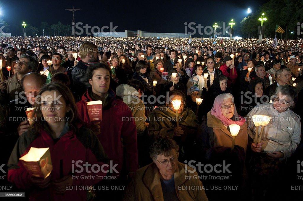 Pope Benedict XVI Portugal Fátima stock photo