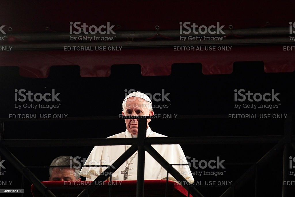 Pope Francis during Stations of the Cross on Good Friday stock photo