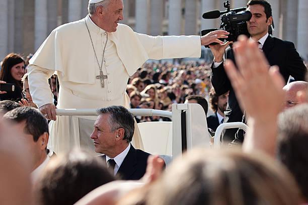 pope francis i blesses the faithful - pope francis stok fotoğraflar ve resimler