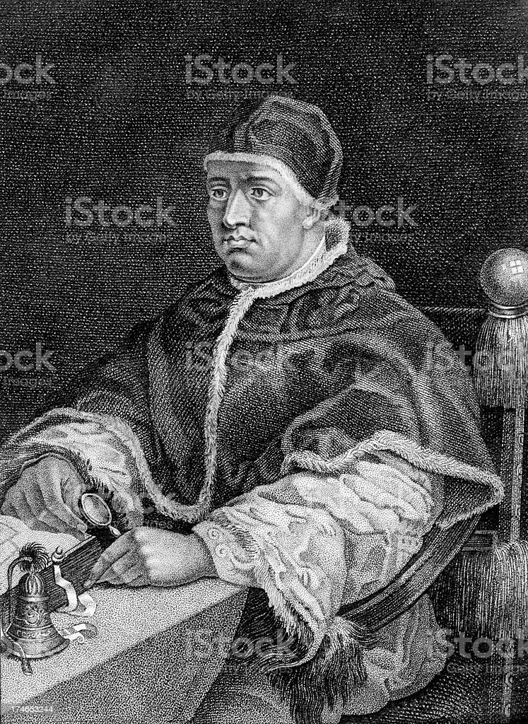 Pope Leo X, Giovanni de Medici royalty-free stock photo