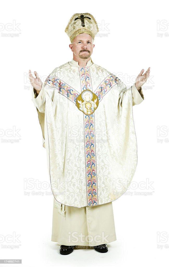 Pope praying stock photo