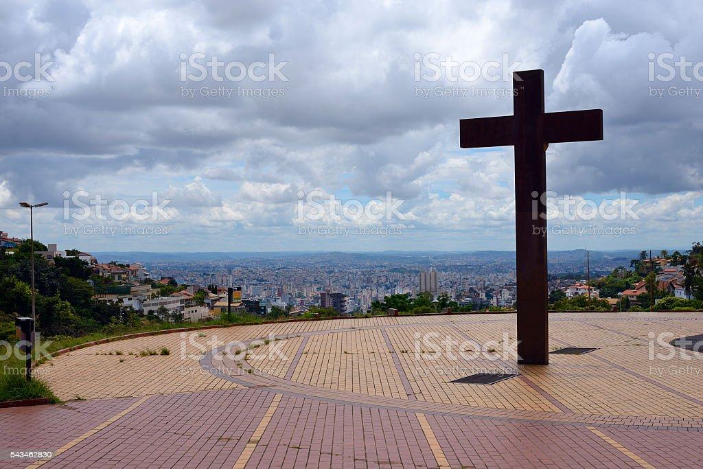 Pope's Square - Landmark at Belo Horizonte, Minas Gerais, Brazil stock photo