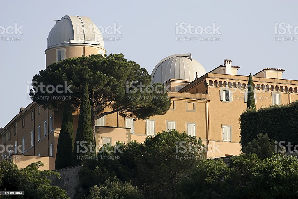 Popes Summer Residence  Architectural Dome Stock Photo
