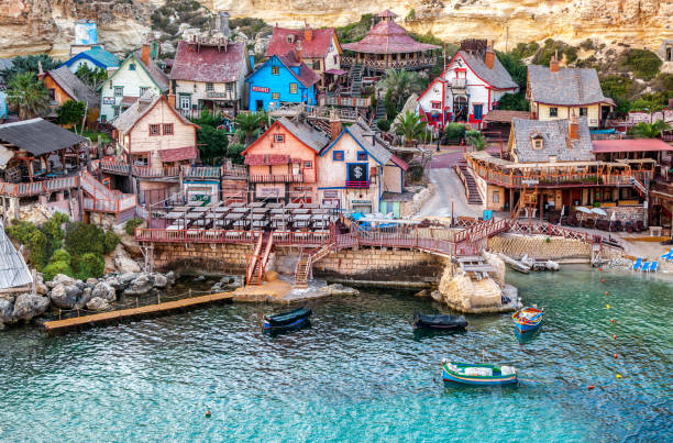 Popeye village in Malta stock photo