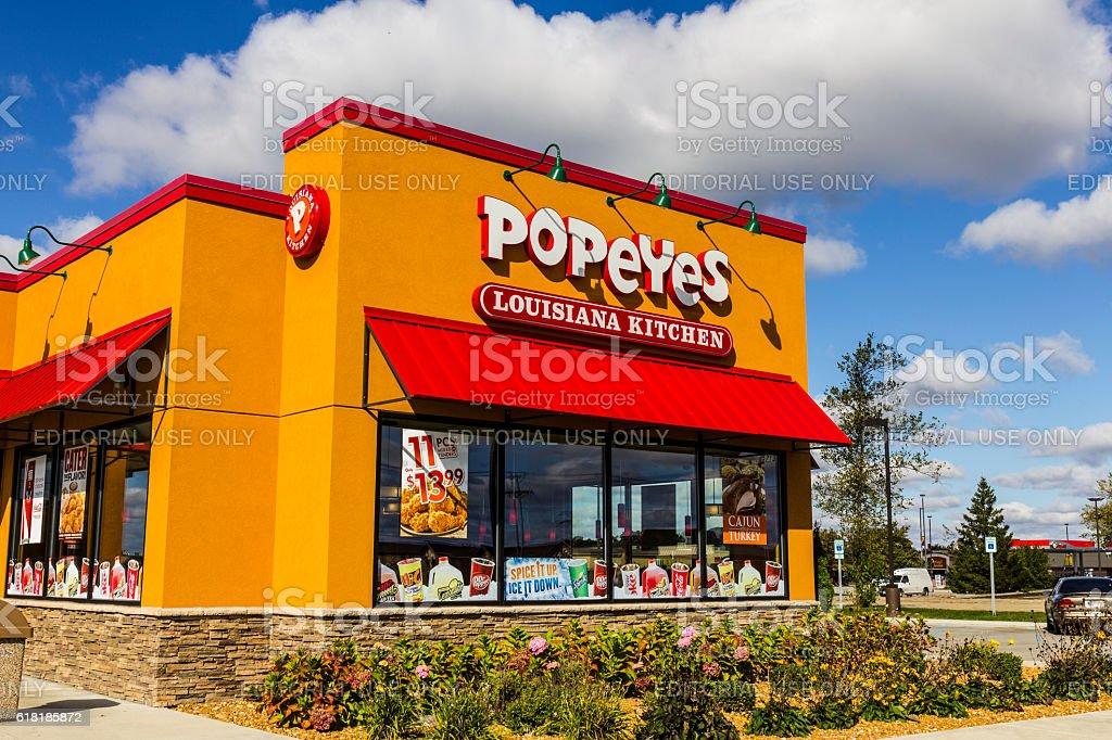 Popeyes Louisiana Kitchen Fast Food Restaurant III stock photo