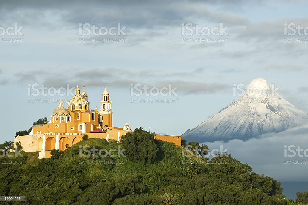 Popocatepetl - Smoking mountain stock photo