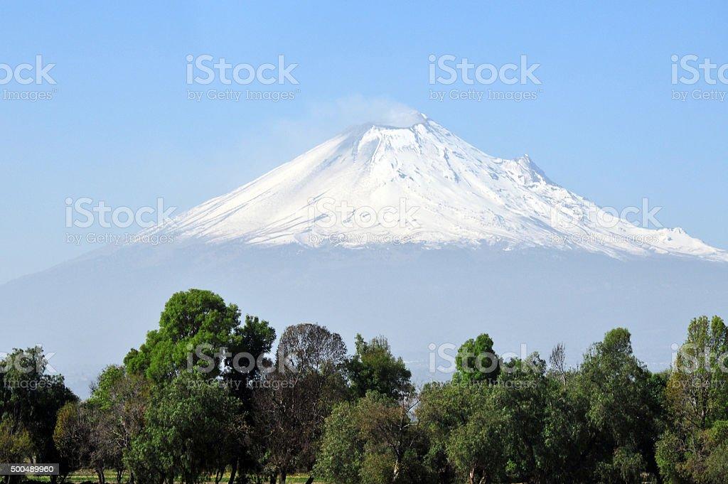 Popocatepetl volcano mountain stock photo