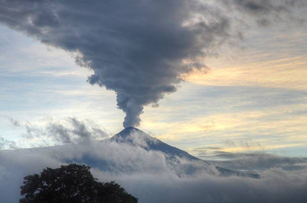 Popocatépetl Volcano stock photo
