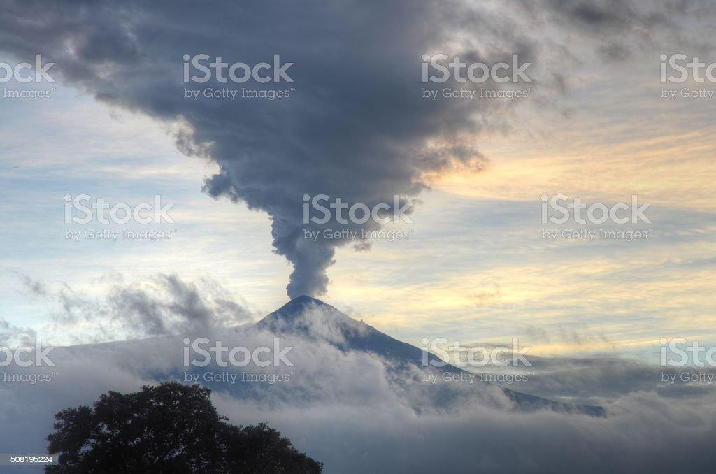 Popocatépetl Volcano stock photo
