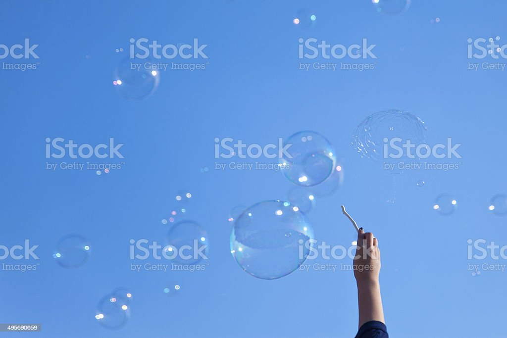 Popping Bubbles stock photo