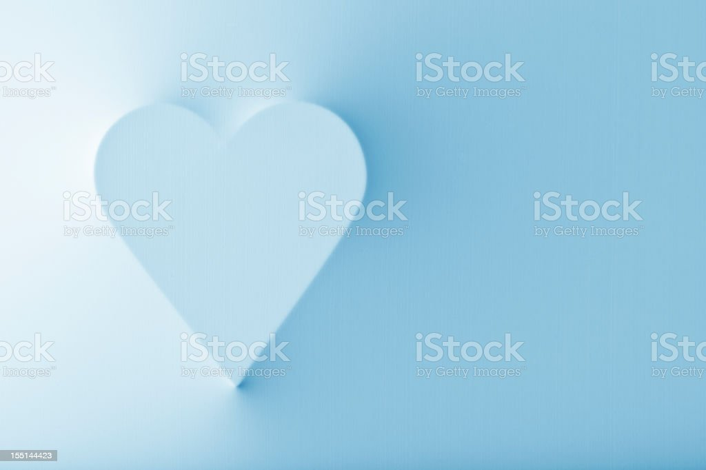Popping out heart with smooth shadows royalty-free stock photo