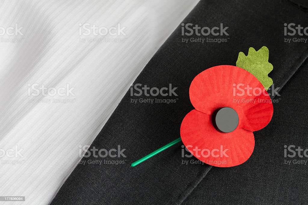 Poppy Appeal - Remembrance Sunday. royalty-free stock photo