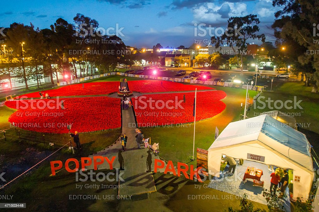 Poppy Park in Penrith stock photo