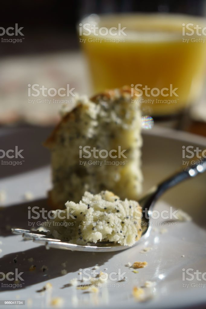 poppy seed muffin on plate - Royalty-free Baked Stock Photo