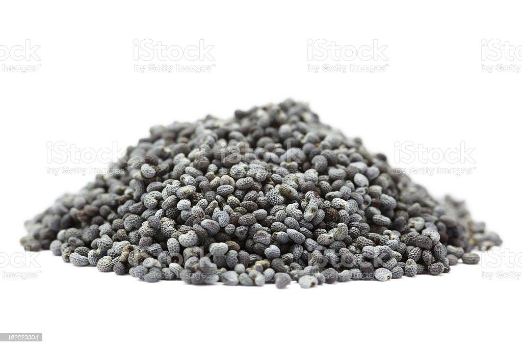 poppy seeds isolated on white royalty-free stock photo