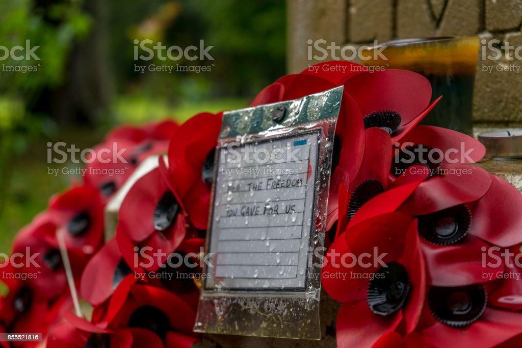 Poppy Wreath stock photo