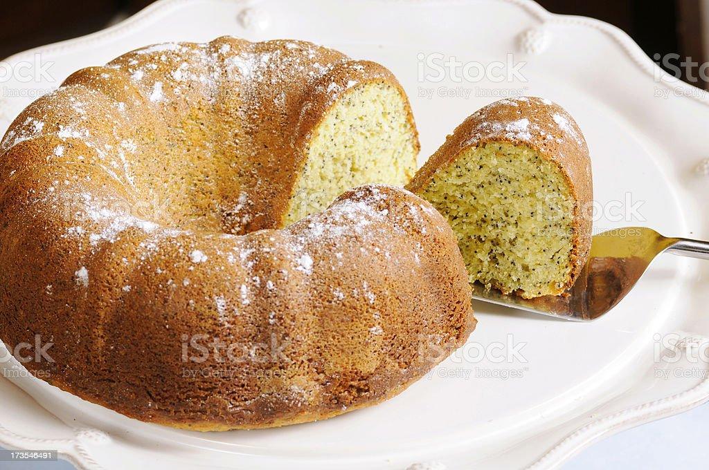 Poppyseed Bundt Cake royalty-free stock photo