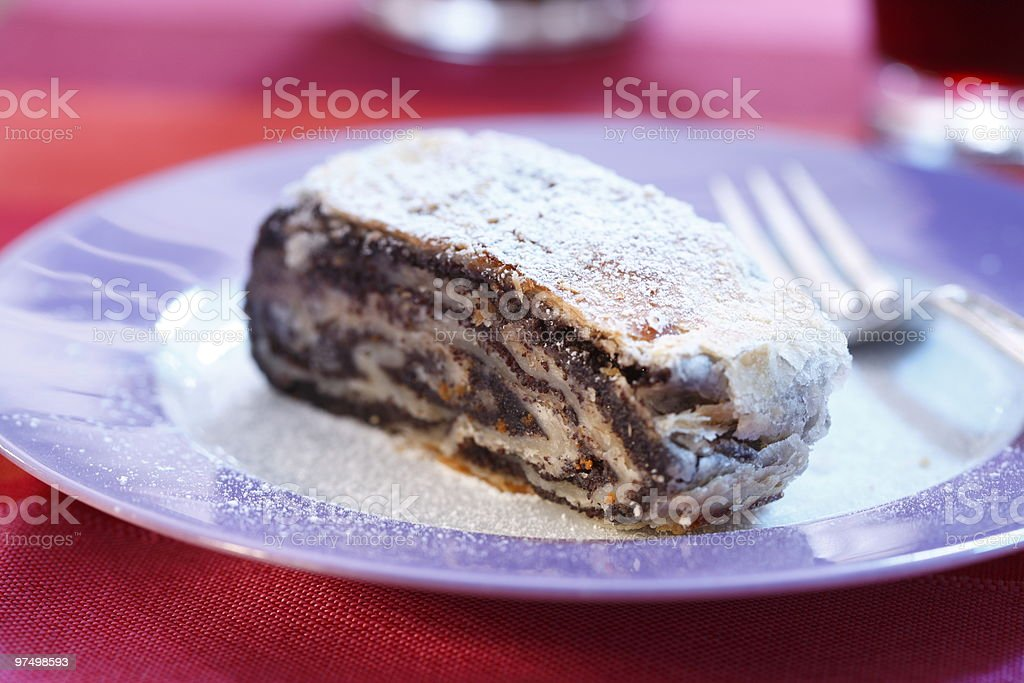 Poppy-seed cake royalty-free stock photo