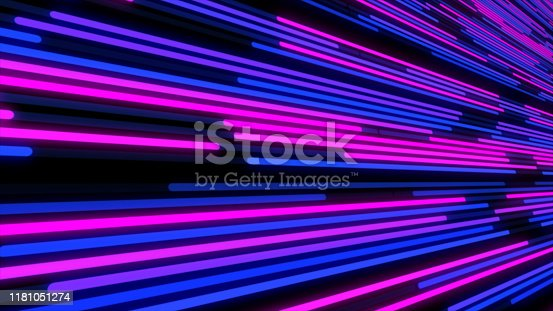 932724974 istock photo Popular Abstract LED wall light, LED smd Screen Board animation 3D rendering 1181051274