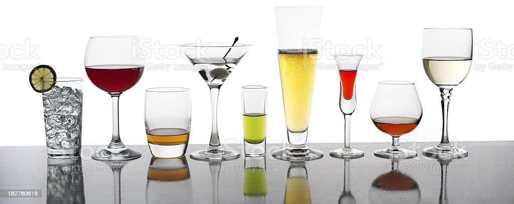 Popular Bar Drinks, XXL stock photo