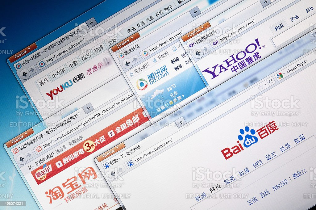 Popular Chinese Web Sites Stock Photo Download Image Now Istock