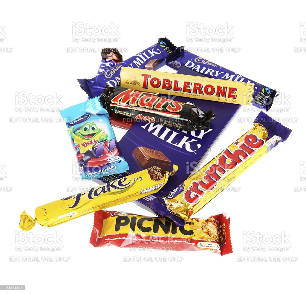Exceptionnel Popular Chocolate Bars. Royalty Free Stock Photo