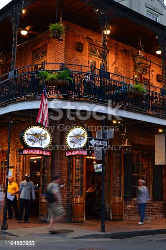 889246424istockphoto A popular corner restaurant in the French Quarter 1164882933