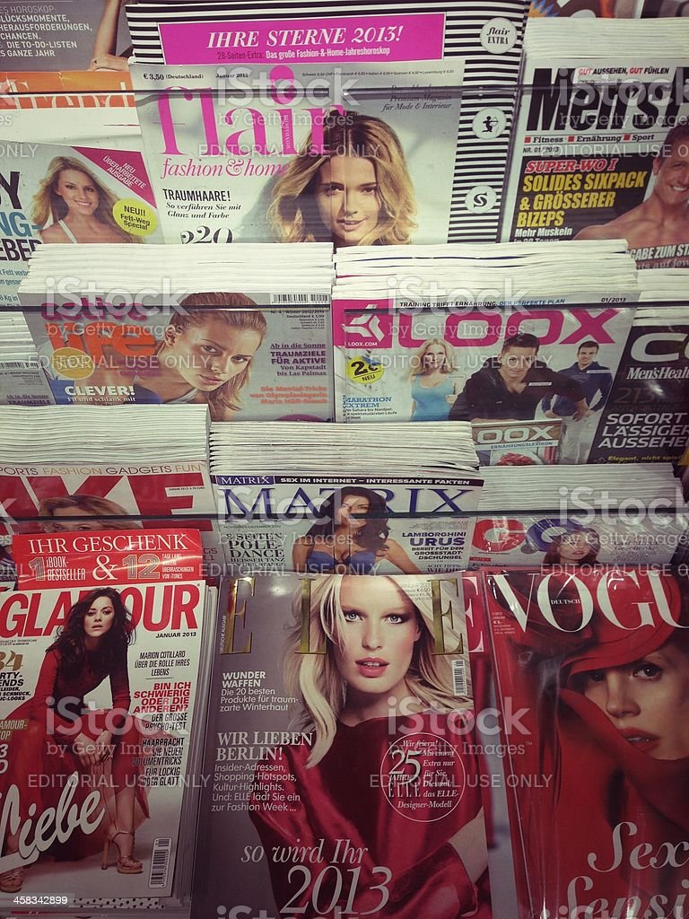 popular fashion magazines stock photo