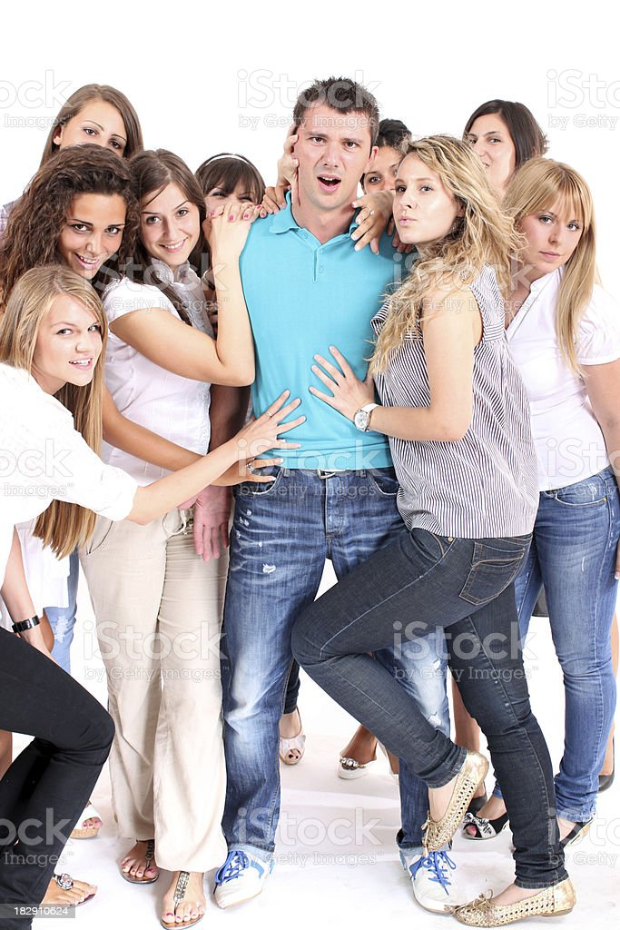 Popular guy royalty-free stock photo