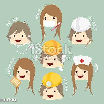 istock popular job  asean economics community, AEC cartoon vector 181981299