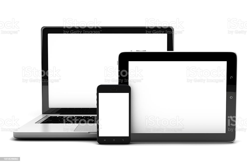 Popular kinds of electronic devices royalty-free stock photo