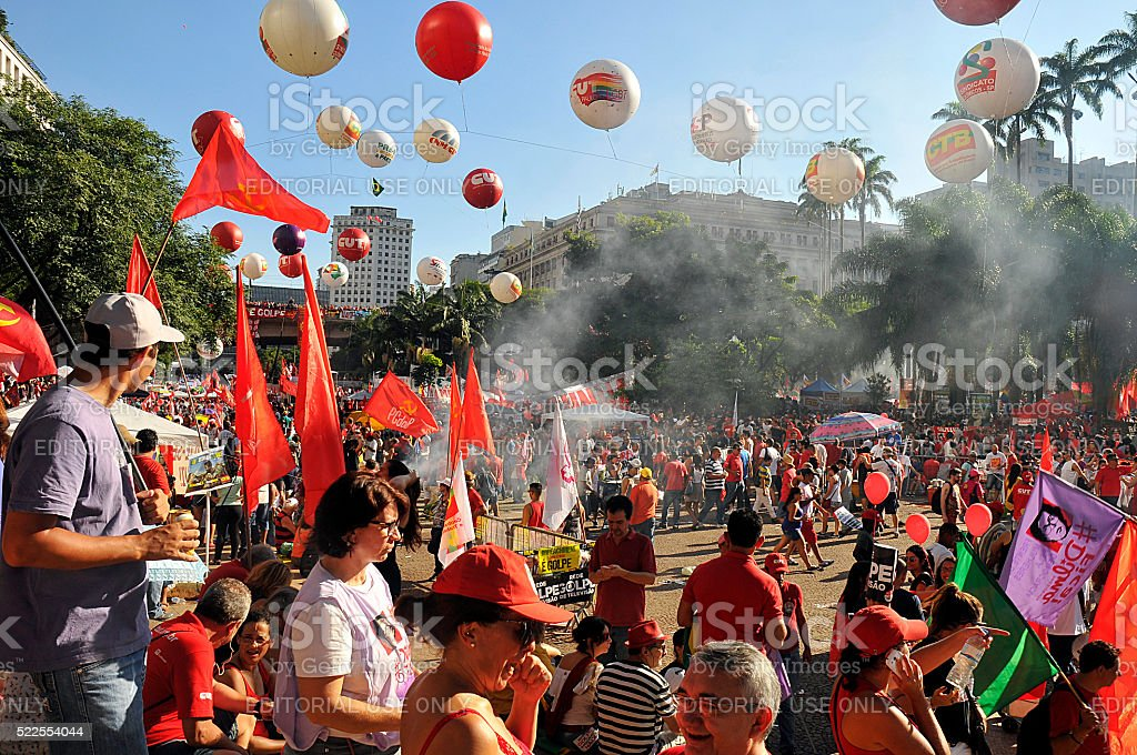 Popular manifestation stock photo
