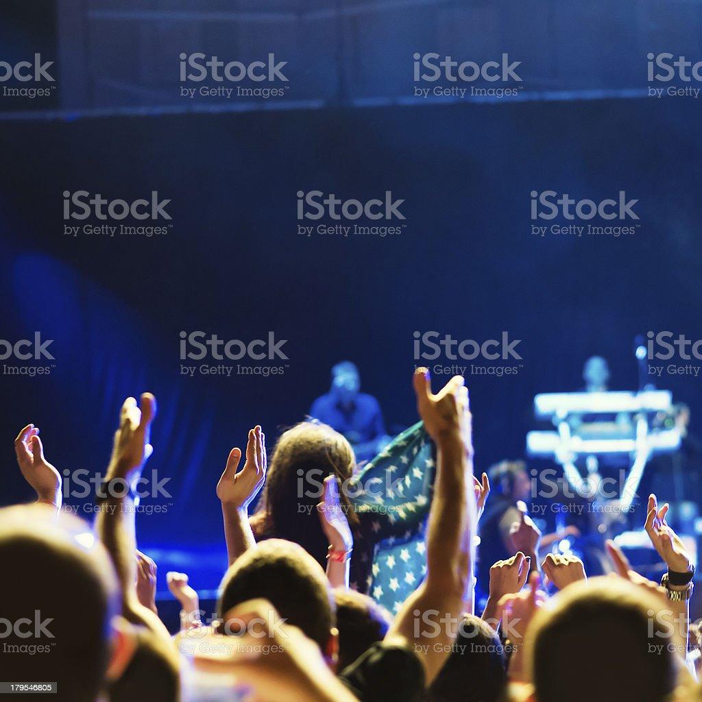 Popular music concert royalty-free stock photo