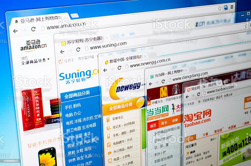 popular online retailers in China royalty-free stock photo