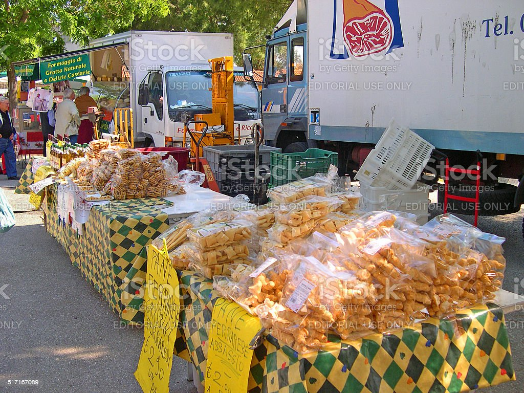 bread stand at the Wednesday outdoor market. The place is very...