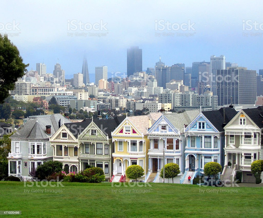 Popular San Francisco view royalty-free stock photo