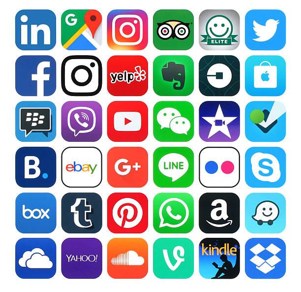 Popular social media icons printed on white paper picture id547528700?b=1&k=6&m=547528700&s=612x612&w=0&h=v w2dx5h0pjy5i4sfczbun2sr4ovbyu50 qb5 pjj0a=