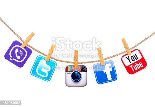 istock Popular social media 485463692