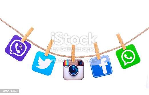 istock Popular social media 485586678