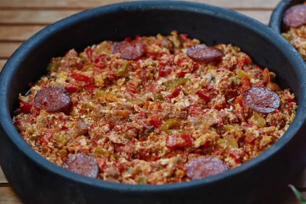 Popular Turkish meal ' menemen' stock photo