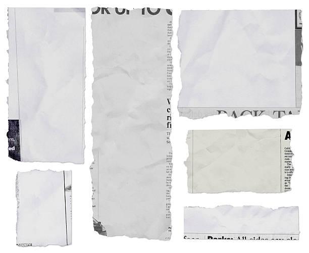rellenos periódico lágrimas de largo - ripped paper fotografías e imágenes de stock