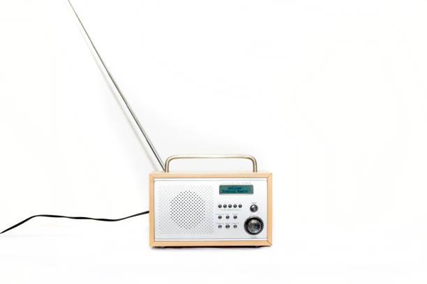 Porable DAB Digital radio front view stock photo
