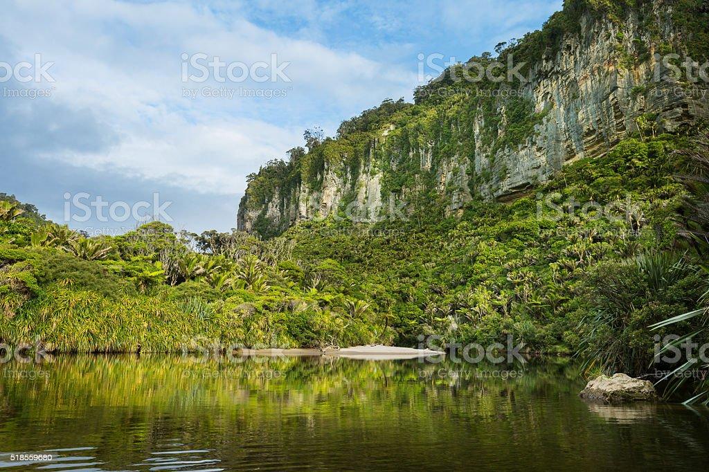 Porarari River in New Zealand stock photo