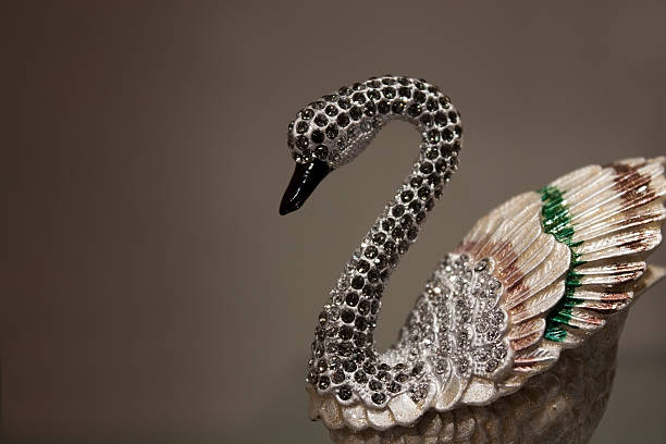 Porcelain and Diamond Swan stock photo
