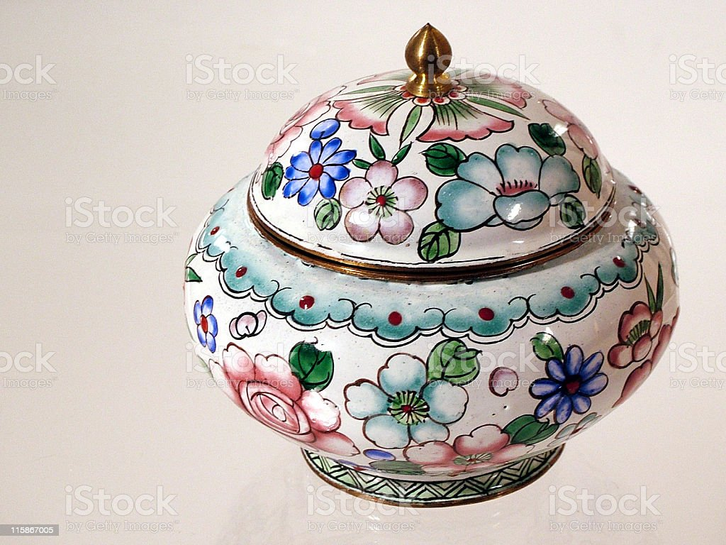 Porcelain Bowl with Cover royalty-free stock photo