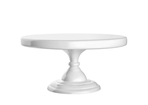 Porcelain cake stand isolated on white background Porcelain cake stand isolated on white background. 3D rendering cakestand stock pictures, royalty-free photos & images