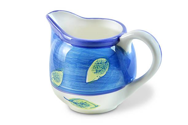 Porcelain Cream Pitcher with Clipping Path stok fotoğrafı