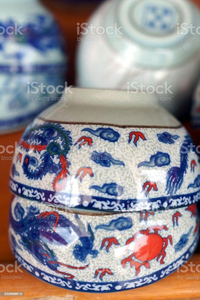 Porcelain cups stock photo