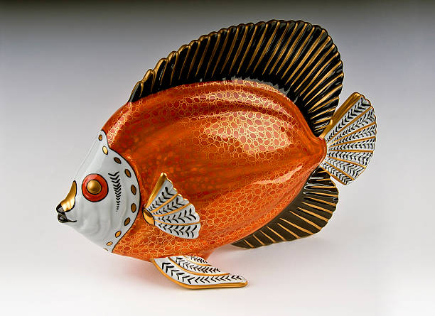 Porcelain Fish stock photo